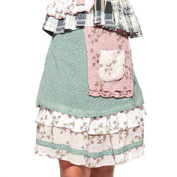 Dámská zelená sukně s kanýrky a kapsičkou Ian Mosh