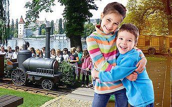 Permanentka na 16 jízd v dětském vláčku na Slovanském ostrově s občerstvením