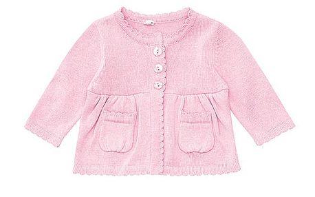 Světle růžový holčičí svetřík
