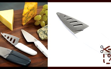 Nože na sýr - joseph joseph duo, bílé