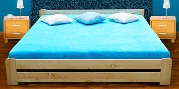 Postel z masivu s roštem a matrací: 4 varianty v 6 rozměrech!