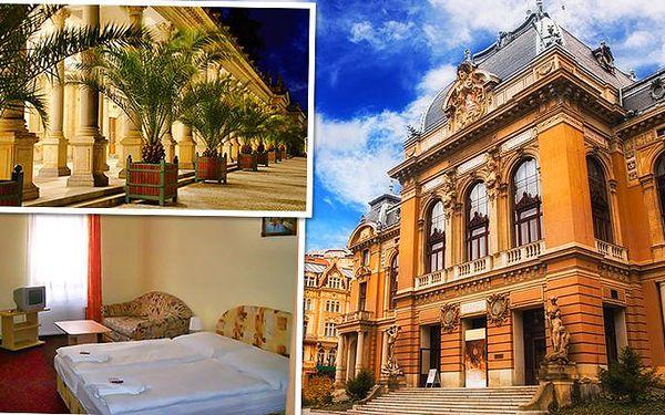 3denní pobyt pro dva se snídaněmi v centru Karlových Varů v hotelu Jizera***