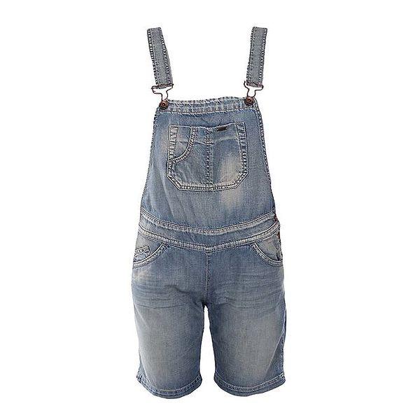 Dámské modré džínové kraťasy s laclem Gas