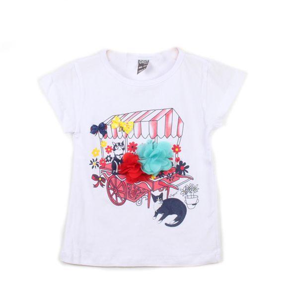 Bílé tričko se stánkem