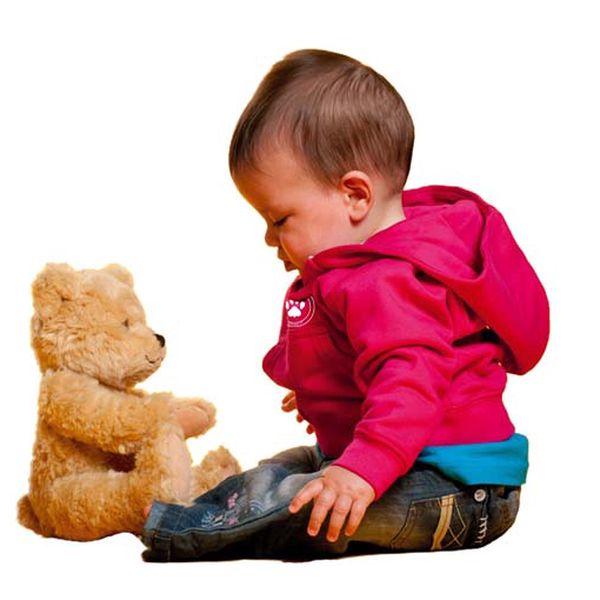 Fialová mikina pro miminka