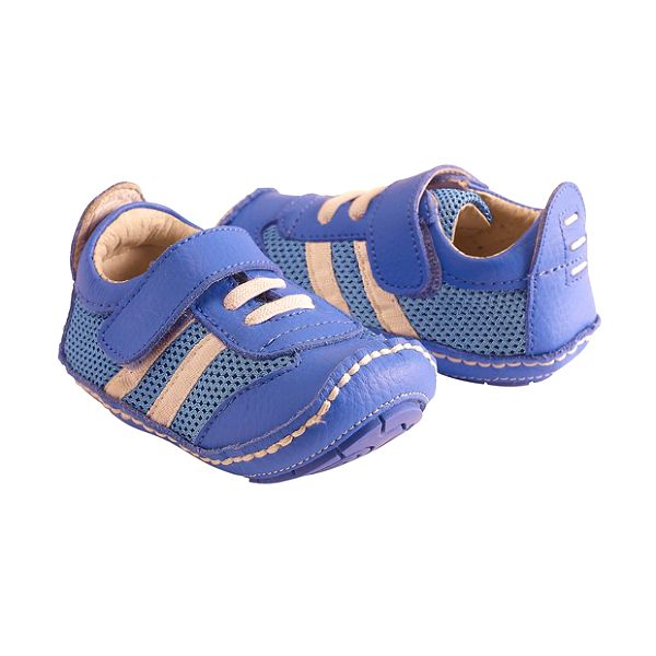 Modré kožené sportovní botičky
