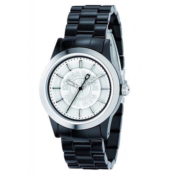 Dámské analogové hodinky s černým páskem DKNY