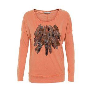 Stylové tričko Maj Orange ležérního střihu