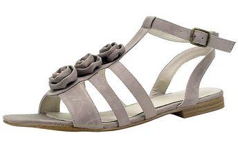 Dámské béžové boty s růžičkami Roberto Botella