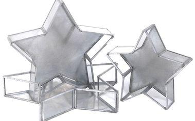 Krásný skleněný box Star