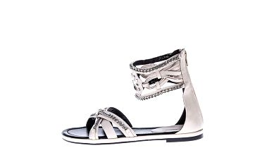Dámské smetanové sandálky s řetízky Roberto Botella