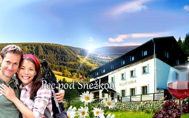 3, 5 nebo 7 DNÍ PRO DVA včetně POLOPENZE v Peci pod Sněžkou od jedinečných 1290 Kč v příjemném penzionu Modřanka! PARKOVÁNÍ A LÁHEV VÍNA NA POKOJ ZDARMA! Velké množství cyklostezek a turistiky! Relax se slevou 56%!