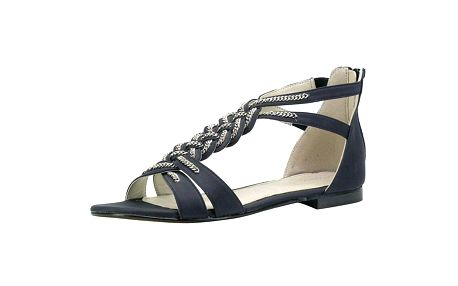 Dámské černé sandálky s propleteným řetízkem Roberto Botella