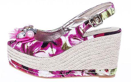 Dámské květované sandály s platformou Roberto Botella
