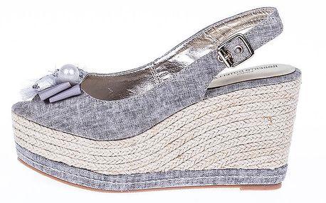 Dámské šedé sandály s platformou Roberto Botella
