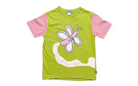 Zelenorůžové triko Motýlek značky Dolca