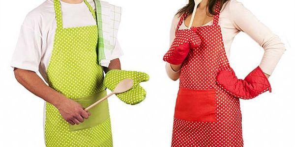 Retro kuchyňská sada s chňapkami v zářivých barvách!