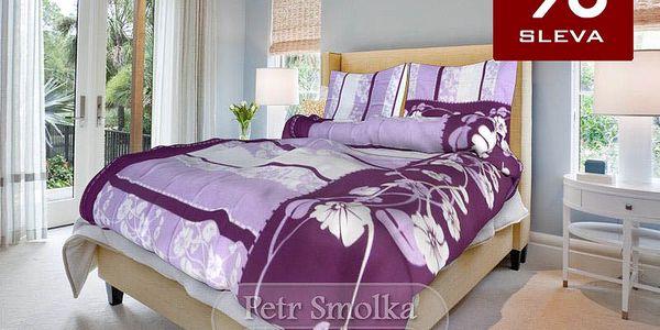 Smolka bavlna povlečení Sofia fialová 140x200 70x90