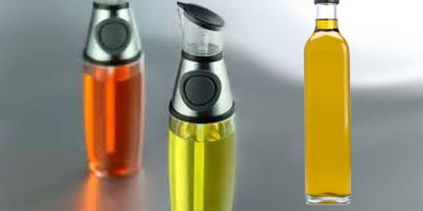 Praktická nádoba na odměření tekutin, oleje, octa