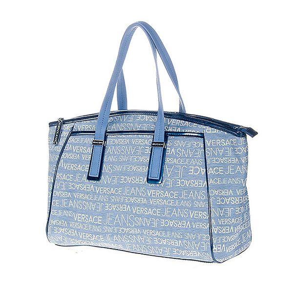 Dámská světle modrá kabelka s potiskem Versace Jeans