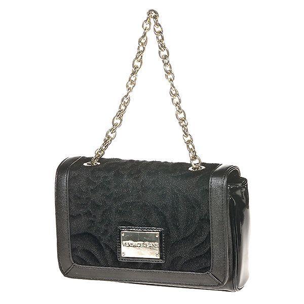 Dámská malá černá kabelka s řetízkem Versace Jeans