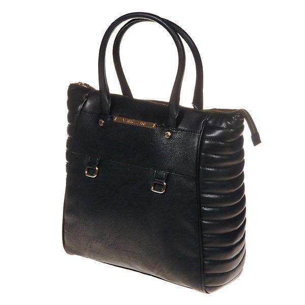 Dámská černá kabelka s ozdobnými bočními díly Versace Jeans