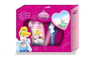 Princess dárková sada - Šampón & sprchový gel + kartáč