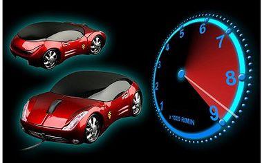 Velmi stylová myš k počítači ve tvaru sportovního auta jen za 139 Kč! Myš v provozu svítí a určitě vám zvýší chuť do práce.
