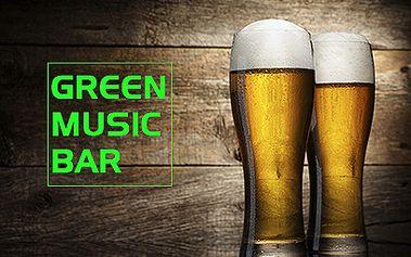 Vypijte neomezeně plzeňského piva za 129 Kč v Green Music Baru!