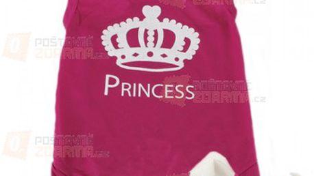 Růžový obleček pro pejsky - nápis Princess a poštovné ZDARMA! - 10809186