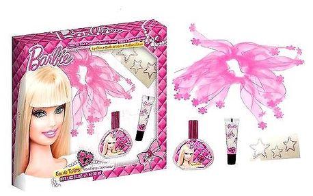Dárková sada Barbie. EDT 30 ml, Závoj na vlasy,tetování,lesk na rty