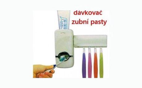 Praktický dávkovač zubní pasty s držákem pro 5 kusů kartáčků. Pořiďte si tuto vychytávku do vaší koupelny se slevou 67 %.