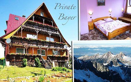 3, 4 nebo 6 dní relaxace v penzionu Bayer v Belianských Tatrách pro dvě osoby