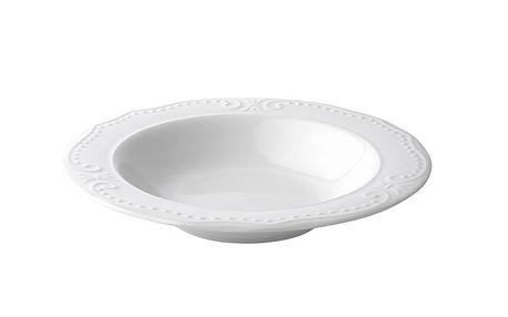 Hluboký porcelánový talíř Rosa - 2ks
