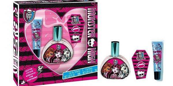 Monster High dárková sada - toaletní voda 30 ml, lesk na rty,Tetování