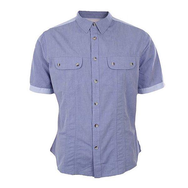 Pánská světle modrá košile s krátkými rukávy Big Star