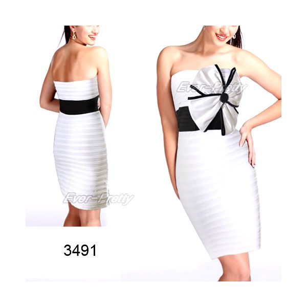 Bílé letní koktejlové šaty