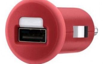 Belkin USB micro nabíječka MIXIT do autozásuvky 1x1A, červená F8J018cwRED