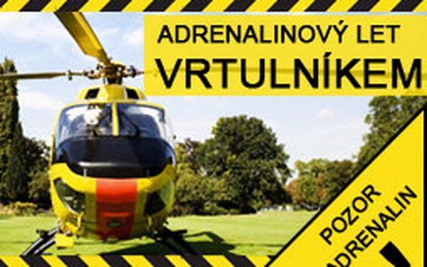 Adrenalinový let vrtulníkem. Vyzkoušíte co všechno umí vrtulník
