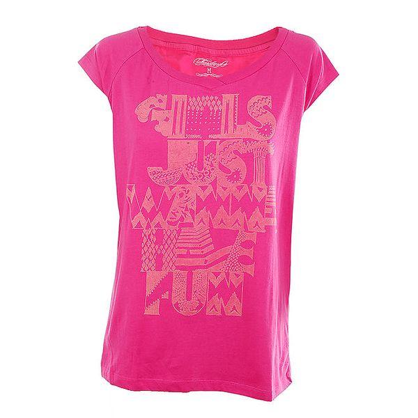 Dámské růžové tričko s potiskem
