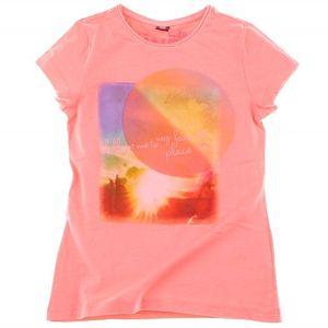 Svěží dívčí tričko značky s.Oliver lososové barvy