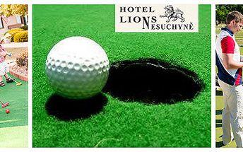Parádní adventure golf v areálu hotelu Lions