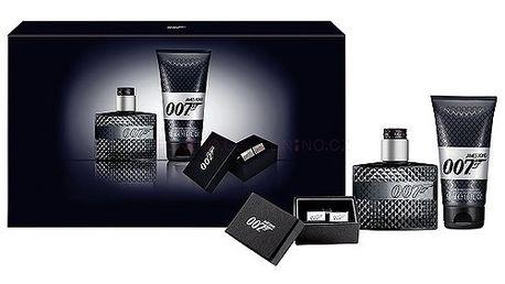 James Bond 007 dárková sada pro muže - Edt 50ml + 50ml sprchový gel + manžetové knoflíčky