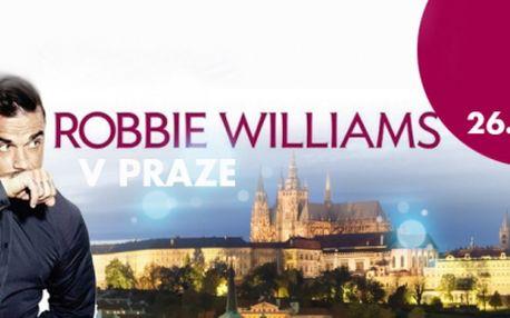 Robbie Williams v Praze! VSTUPENKA na velkolepý koncert do O2 Areny a UBYTOVÁNÍ na se SNÍDANÍ ve 3* nebo 4* hotelu, již od 3190 Kč! Spojte exkluzivní zážitek pod pódiem Robbieho Williamse s pobytem v Praze!