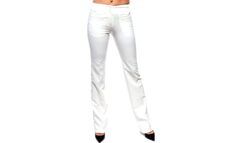 Dámské bílé kalhoty Trois Quatorze
