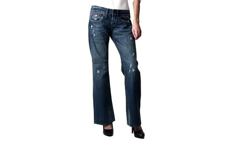 Dámské modré děrované džíny Replay