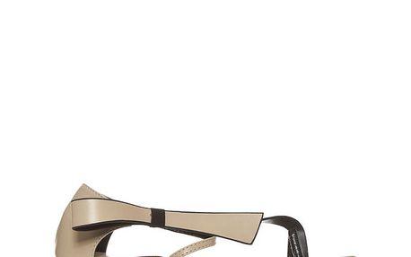Dámské béžové sandálky s originálním designem Yook for you