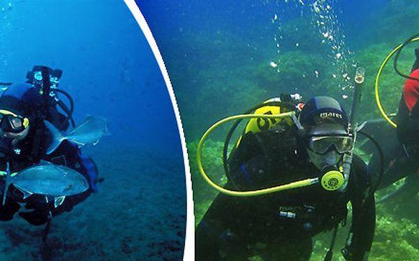 Prodloužený aktivní víkend s potápěním v Chorvatsku pro úplné začátečníky