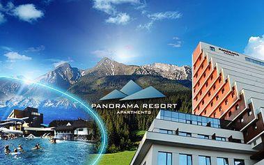 Dovolená na Štrbském Plese v moderním hotelově apartmánovém resortu PANORAMA ve VYSOKÝCH TATRÁCH již od 3248 Kč! Užijte si relax s nádherným výhledem na Vysoké Tatry! Internet a dítě do 3 let ZDARMA! Sleva 58%!