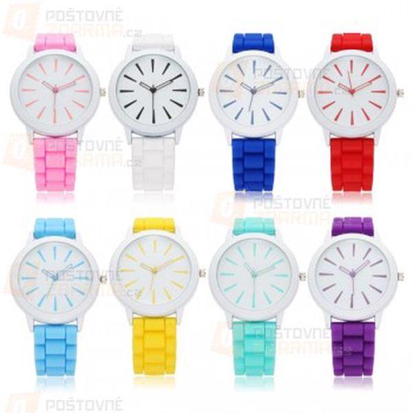 Unisex silikonové hodinky Geneva - 8 barev a poštovné ZDARMA! - 11209222